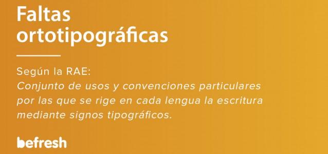 Definición de faltas ortotipograficas