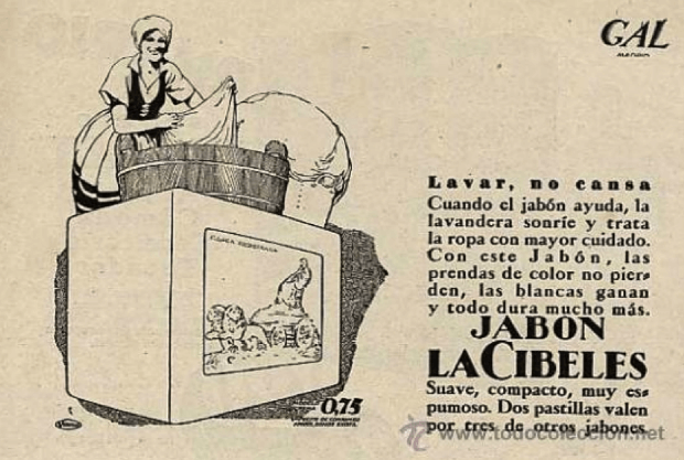 El papel de la mujer en la publicidad de jabones años 30