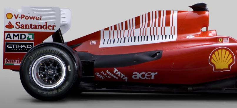 MEnsaje subliminal utilizado en un coche Ferrari