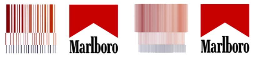 MEnaje subliminal de la marca Marlboro en un coche Ferrari