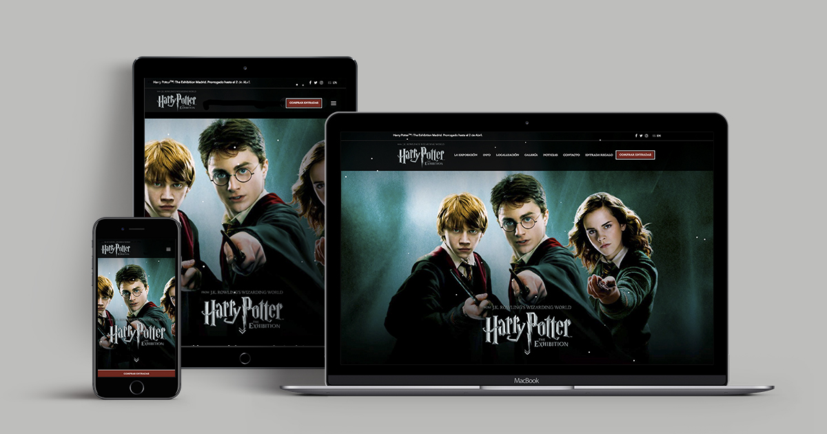 Responsive design de la web de Harry Potter