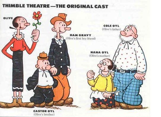 popeye no era protagonista en la primera idea de timble theatre
