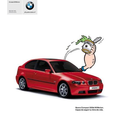 Popeye fue utilizado para una campaña de BMW