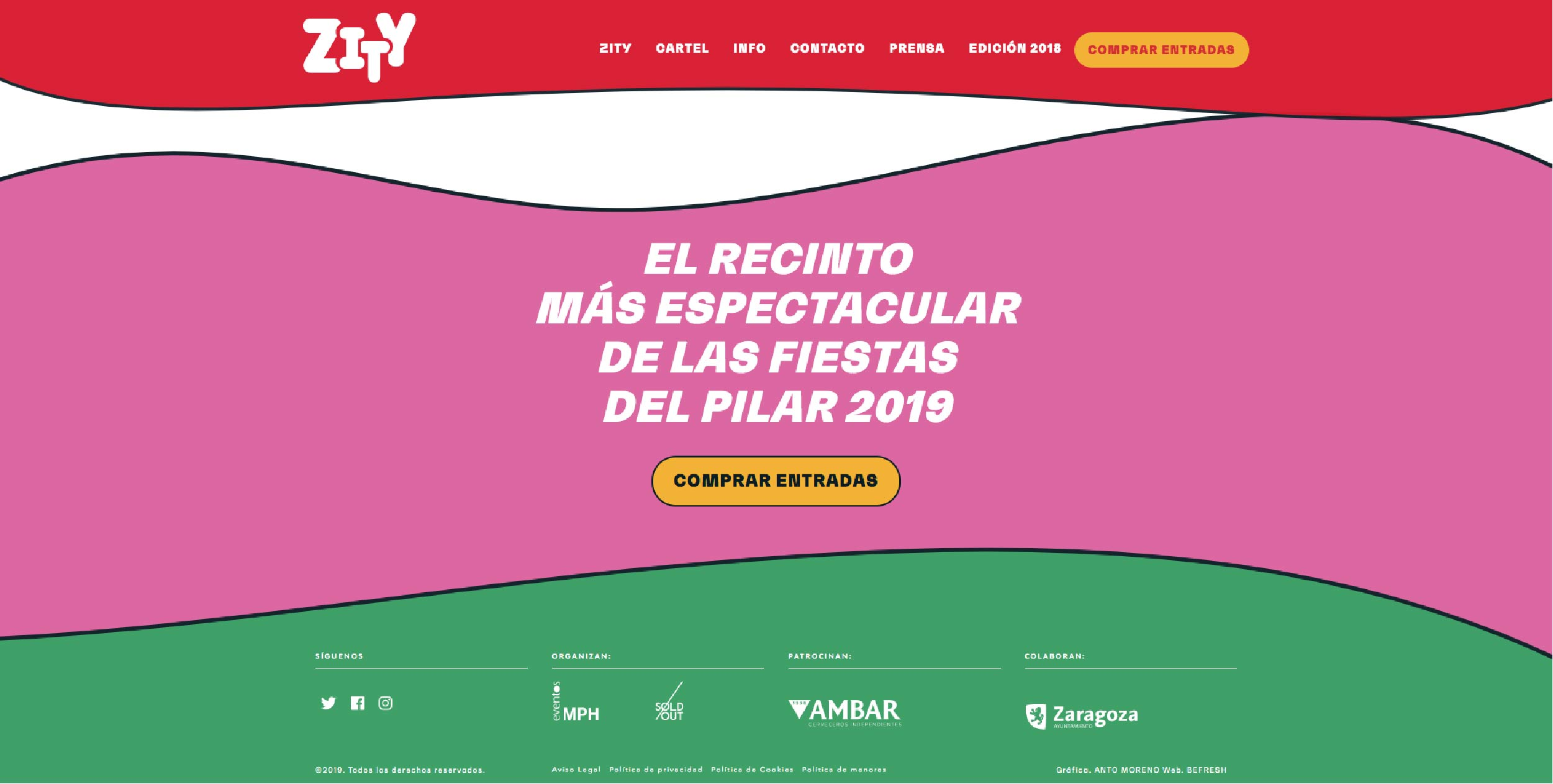 tendencias diseño web 2019 - color