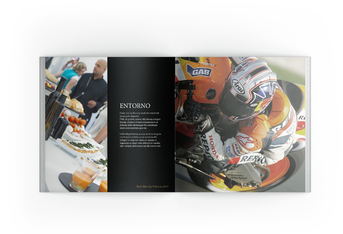 graphic design of Dossier MotoGp Val 2013