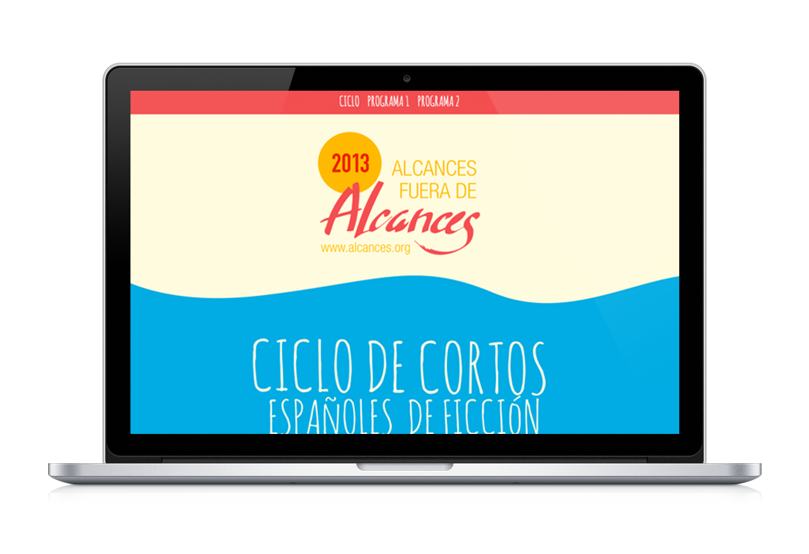 web development of Ciclo de cortos Alcances 45