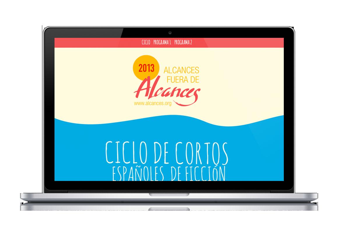 desarrollo web de Ciclo de cortos Alcances 45