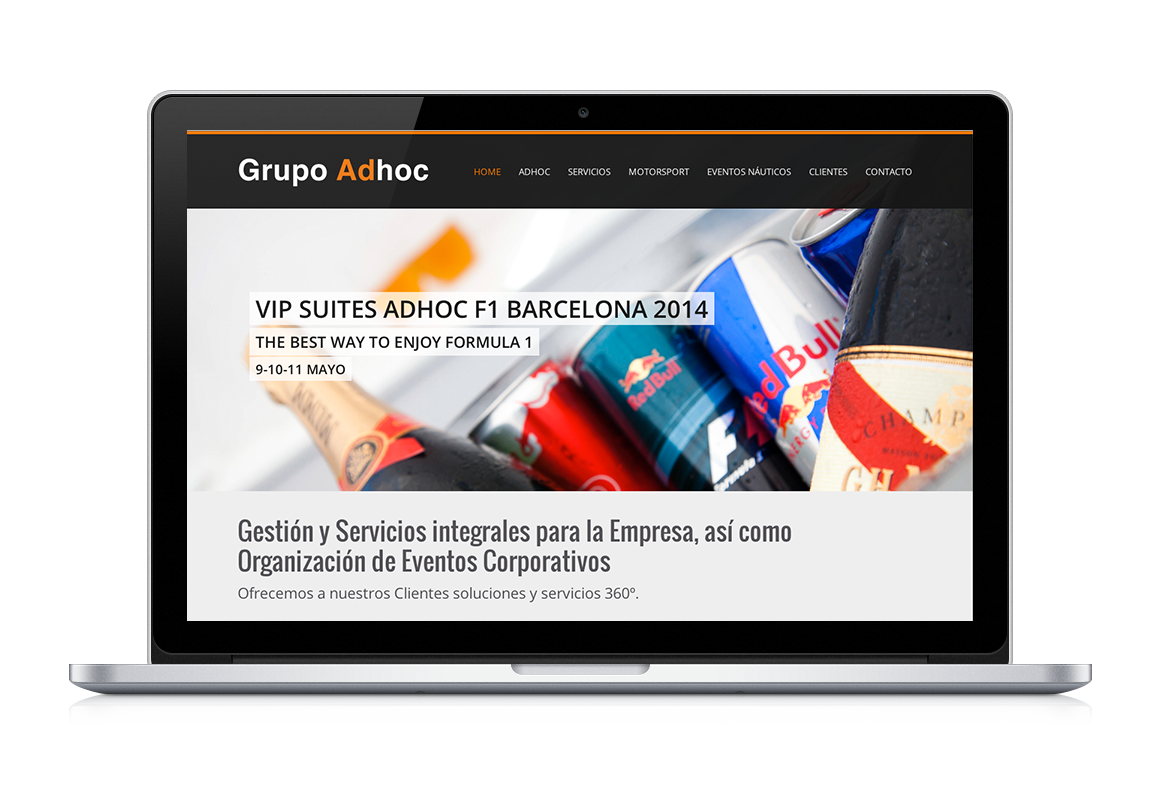 desarrollo web de Grupo Adhoc