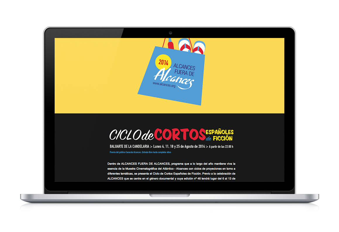 web development of Ciclo de cortos Alcances 46