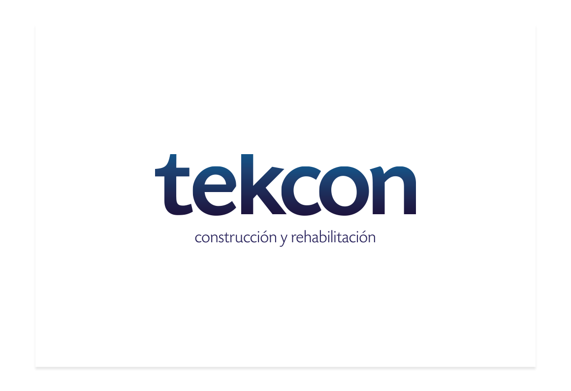Logotype tekcon. Contruction and rehabilitation