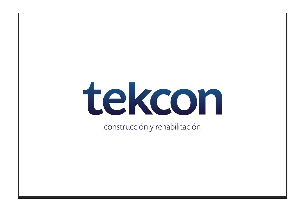 Corporate image & Branding:tekcon. Contruction and rehabilitation