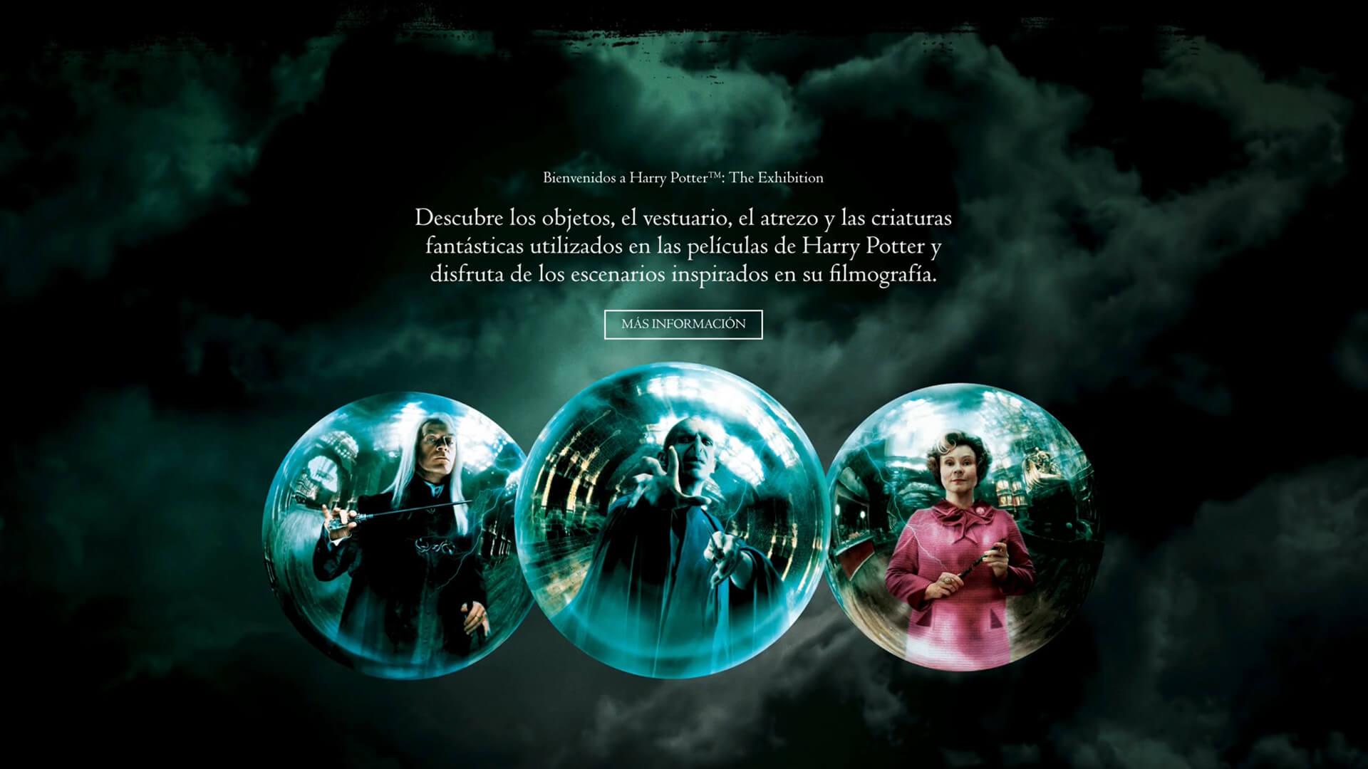 Imagen de Desarrollo web Harry Potter Exhibition